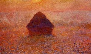 Claude Monet - Grainstack , Солнце в Туман