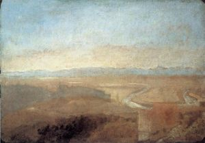 William Turner - город холм на Край Campagna