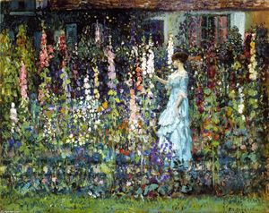 Frederick Carl Frieseke - Hollyhocks