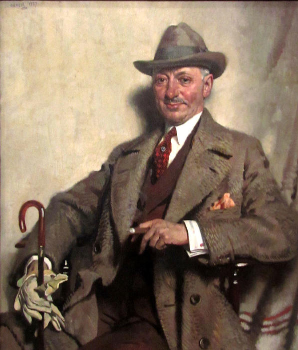 Иаков Эпштейн, 1927 по William Newenham Montague Orpen (1878-1931, Ireland)