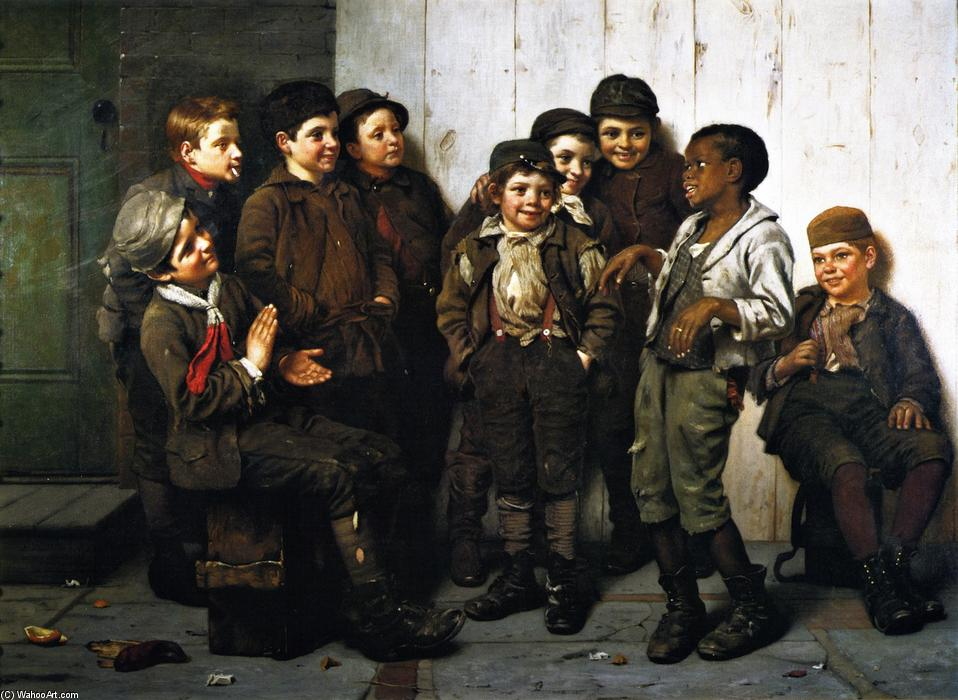 Веселый Лот, 1885 по John George Brown (1831-1913, United Kingdom)