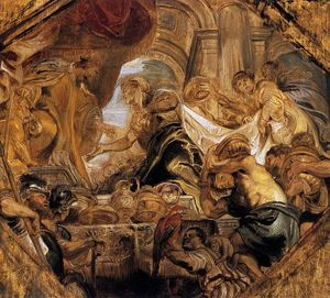 Peter Paul Rubens - King Solomon и чем Королева of Вирсавия
