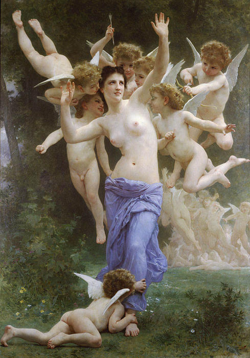 Ле Guepier, 1892 по William Adolphe Bouguereau (1825-1905, France)