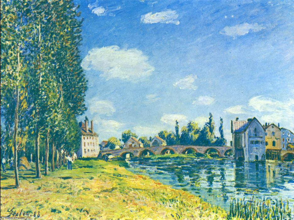 TheA0strawA0Rent, 1888 по Alfred Sisley (1839-1899, France) | Картина Копия | WahooArt.com