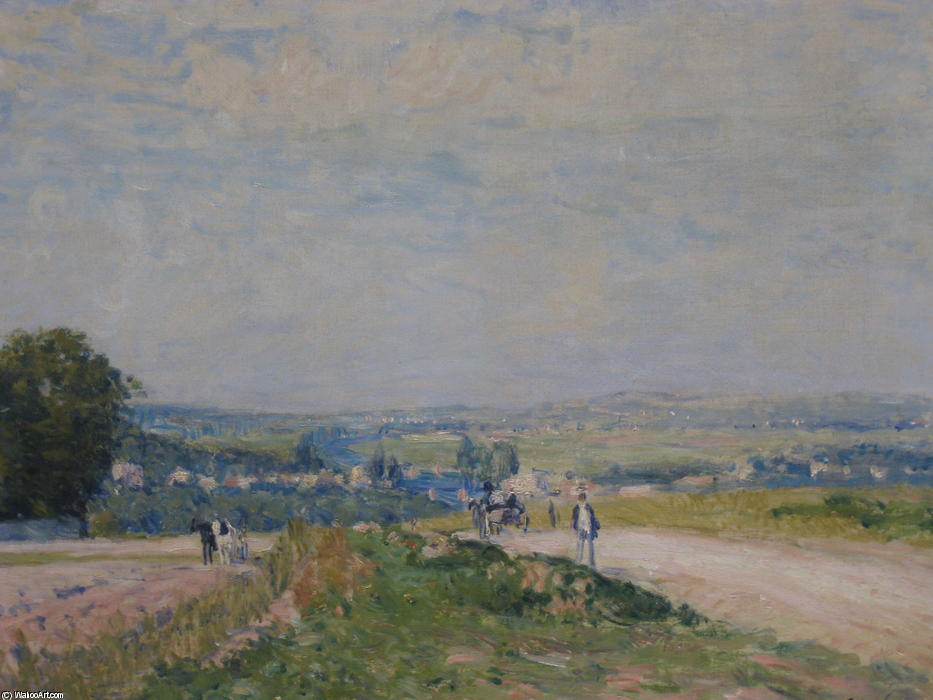 дорога в Louveciennes Montbuisson, холст, масло по Alfred Sisley (1839-1899, France)