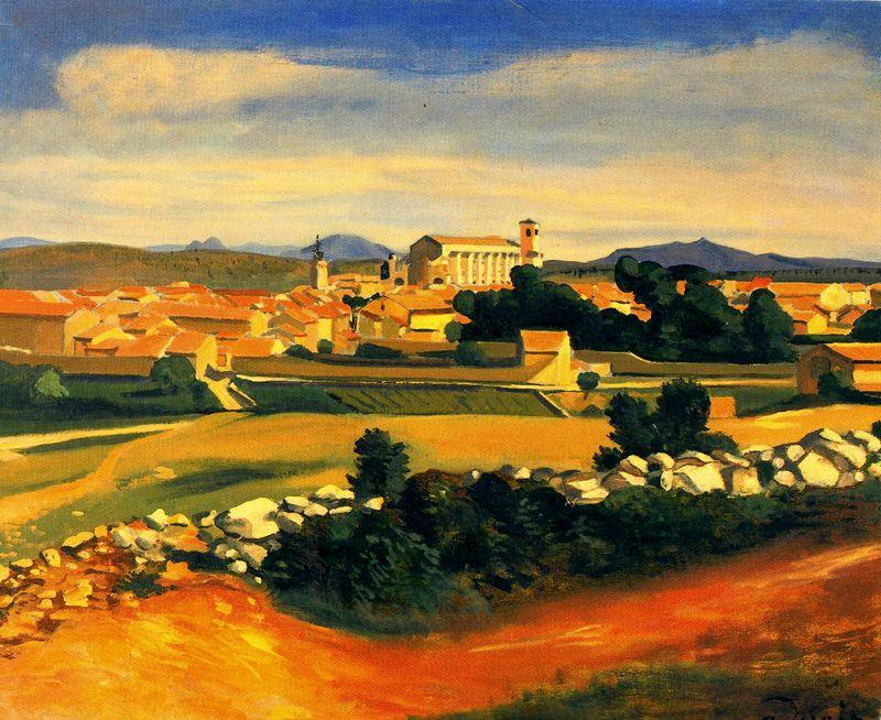ландшафт, холст, масло по André Derain (1880-1954, France)
