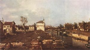 Giovanni Antonio Canal (Canaletto) - Брента канал в Падуе