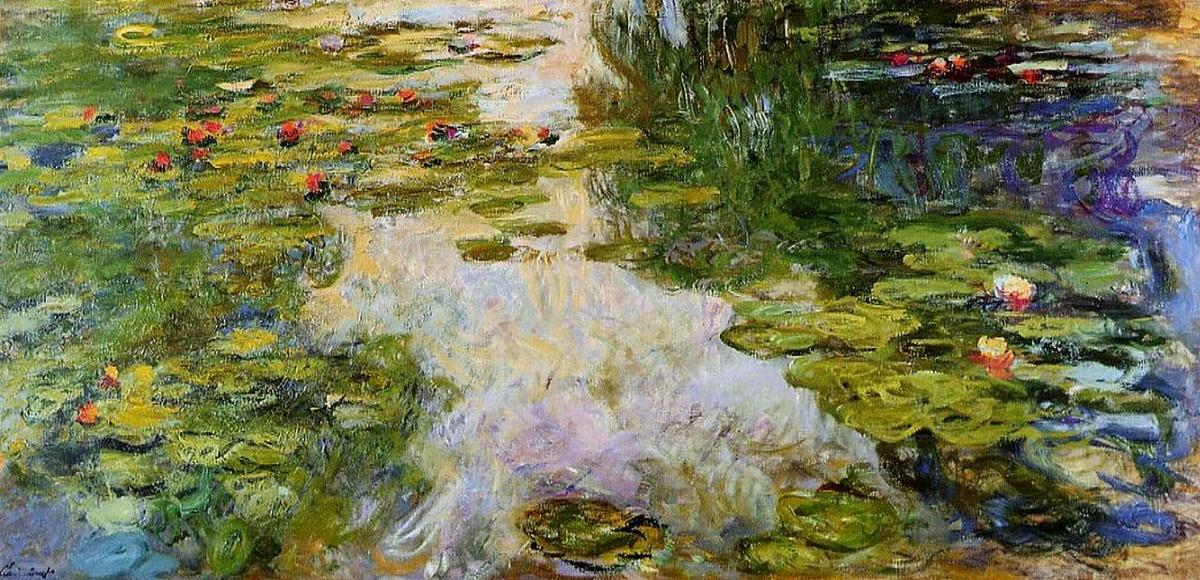 Водяные Лилии 69, 1919 по Claude Monet (1840-1926, France) | WahooArt.com