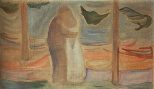 Edvard Munch - пара на берегу ( от reinhardt frieze )
