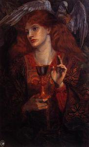 Edward Coley Burne-Jones - Девица из Sanct Грааля