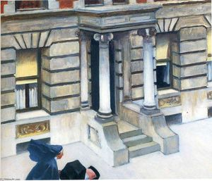 Edward Hopper - нью йорк тротуаров