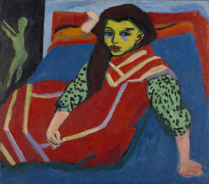 Ernst Ludwig Kirchner - сидя ДЕВУШКА