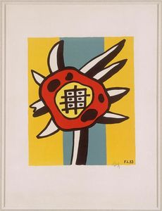 Fernand Leger - Sunflower на желтый фон