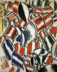 Fernand Leger - Sitted девушку