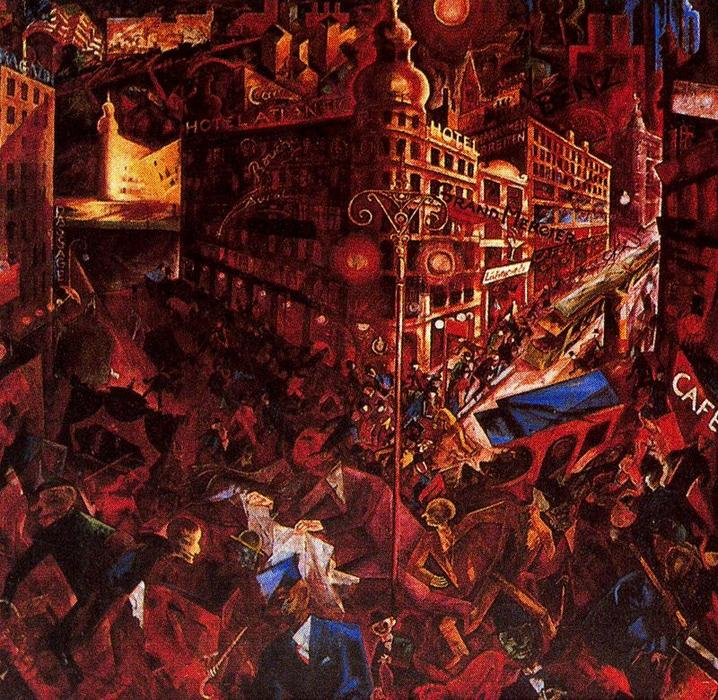 Город, 1917 по George Grosz (1893-1959, Germany) |  | WahooArt.com