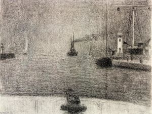 Georges Pierre Seurat - Порт Онфлер