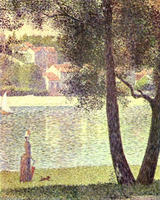 Сена в Курбевуа, холст, масло по Georges Pierre Seurat (1859-1891, France)