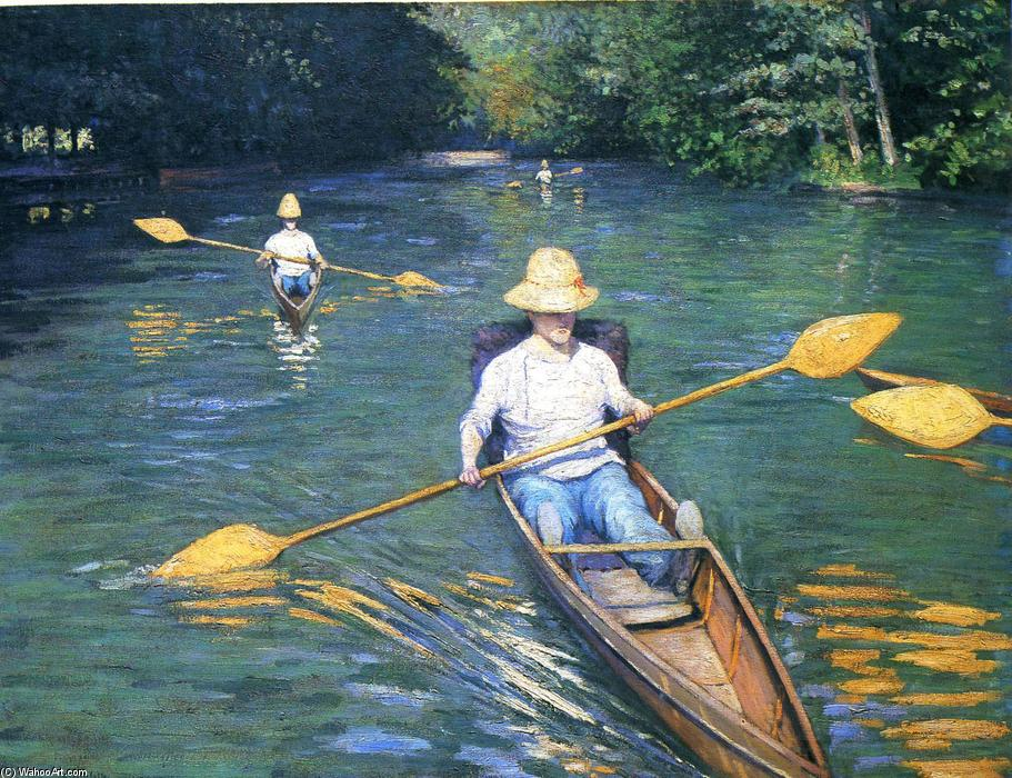 Скифы на Yerres, холст, масло по Gustave Caillebotte (1848-1894, France)