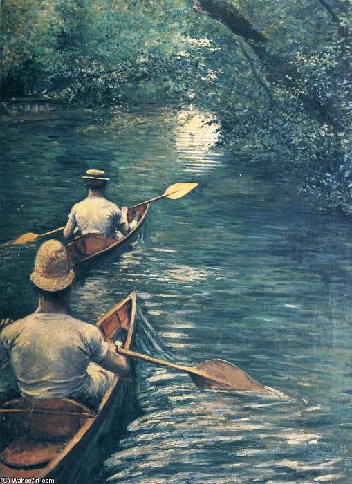 Каноэ, холст, масло по Gustave Caillebotte (1848-1894, France)