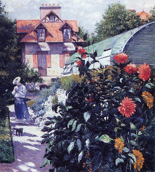 Сад в Пти Gennevilliers, 1893 по Gustave Caillebotte (1848-1894, France) | WahooArt.com