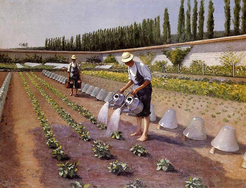 Садовники, 1877 по Gustave Caillebotte (1848-1894, France)