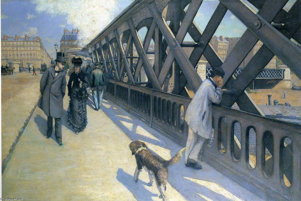 Ле Понт де L'Europe, холст, масло по Gustave Caillebotte (1848-1894, France)