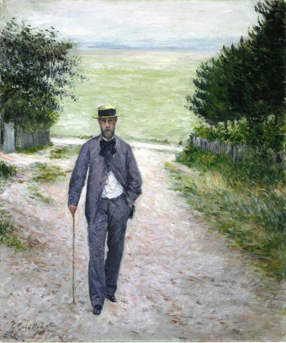 по морю, холст, масло по Gustave Caillebotte (1848-1894, France)