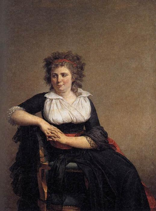 robertine tourteau , Маркиза d'Orvilliers, холст, масло по Jacques Louis David (1748-1800, France)