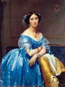 Jean Auguste Dominique Ingres - Портрет отель princesse де Бройля