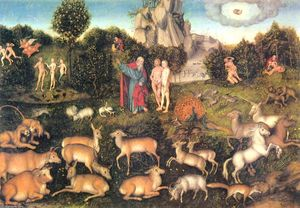 Lucas Cranach The Elder - рай
