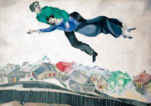 Marc Chagall - Над городом
