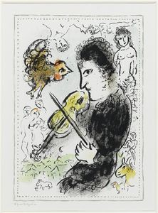 Marc Chagall - Скрипач с Ruster