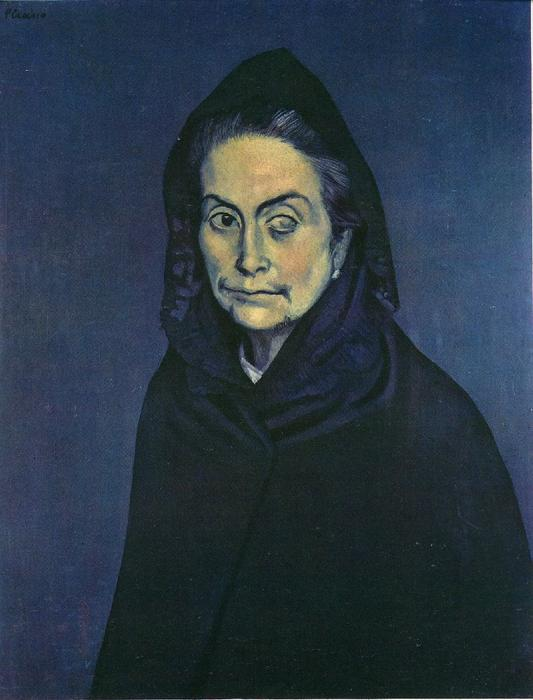 Селестина, холст, масло по Pablo Picasso (1881-1973, Spain)