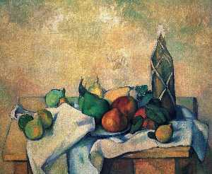 Paul Cezanne - Still жизнь , бутылка of rum