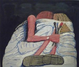 Philip Guston - пара постель