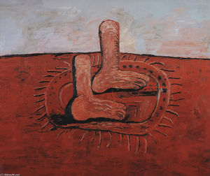 Philip Guston - два жир ноги