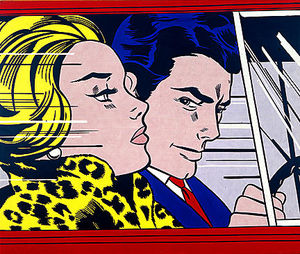 Roy Lichtenstein - в автомобиль