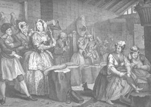 William Hogarth - Harlot-s Progress , plate 4