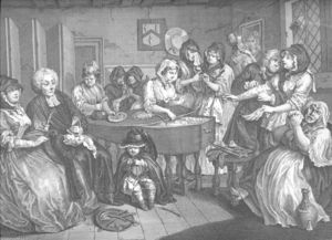 William Hogarth - Harlot-s Progress , plate 6
