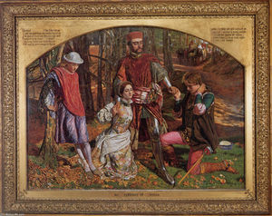 William Holman Hunt - Валентина Спасение Сильвия от Proteus