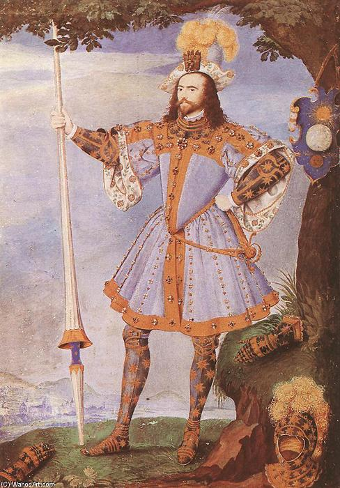 Портрет Джорджа Клиффорда, граф Камберленд, 1590 по Nicholas Hilliard (1577-1619, United Kingdom)