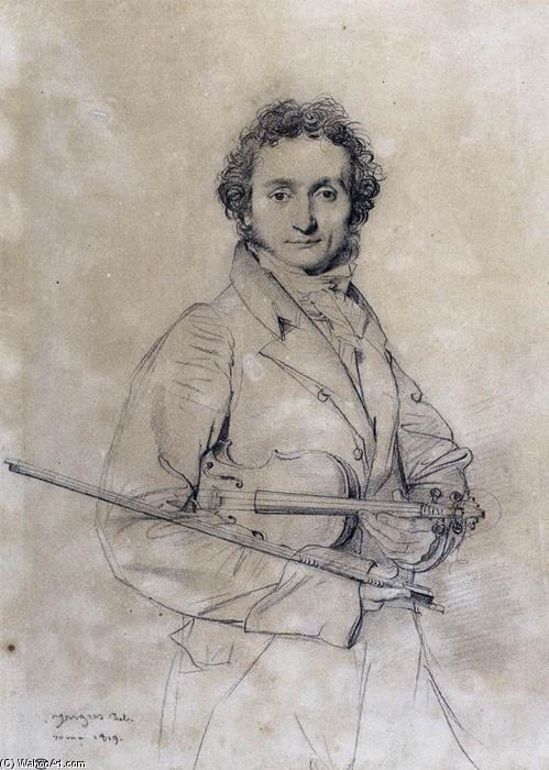 Скрипач Никколо Паганини, 1819 по Jean Auguste Dominique Ingres (1780-1867, France)