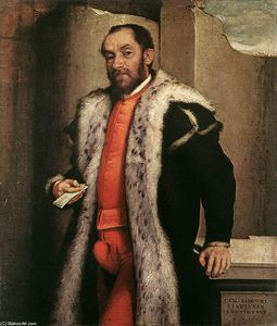 Giovanni Battista Moroni - Портрет Антонио Navagero