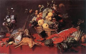 Frans Snyders - натюрморт с корзина самого Фрукты