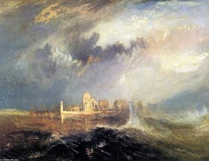 William Turner - Quillebeuf, в устье Сены