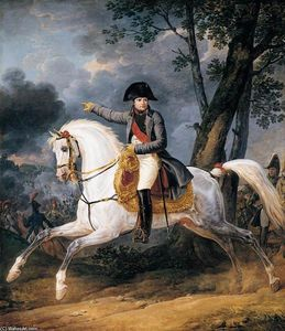 Antoine Charles Horace Vernet Aka Carle Vernet - конный портрет of of Император Napoleon И