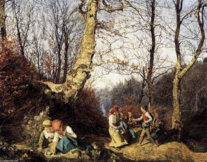 Ferdinand Georg Waldmuller - Early Spring в Wienerwald