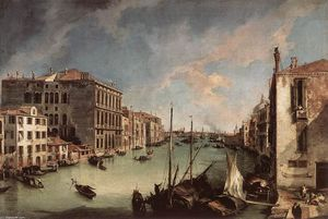 Giovanni Antonio Canal (Canaletto) - Гранд-канал, глядя на восток от Кампо Сан-Вио