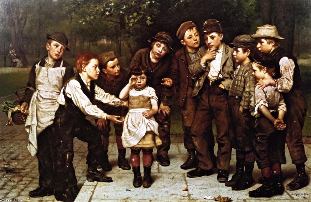 потерянный ребёнок , 1881 по John George Brown (1831-1913, United Kingdom) | WahooArt.com