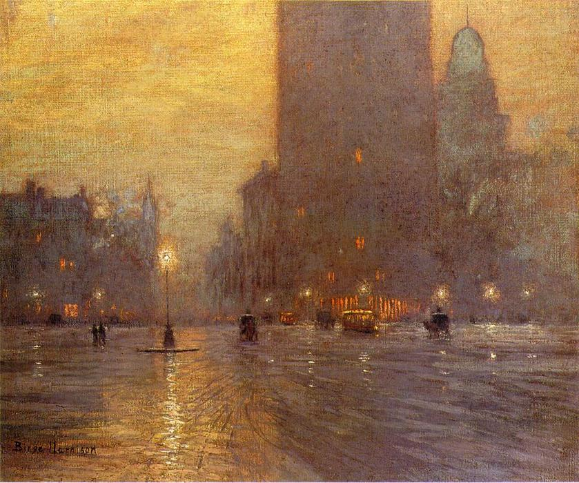 Мэдисон-Сквер- по Lowell Birge Harrison (1854-1929, United States)